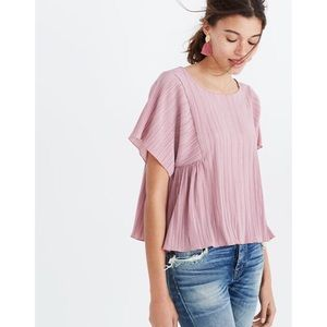 Madewell Texture & Thread Micropleat Top Size L